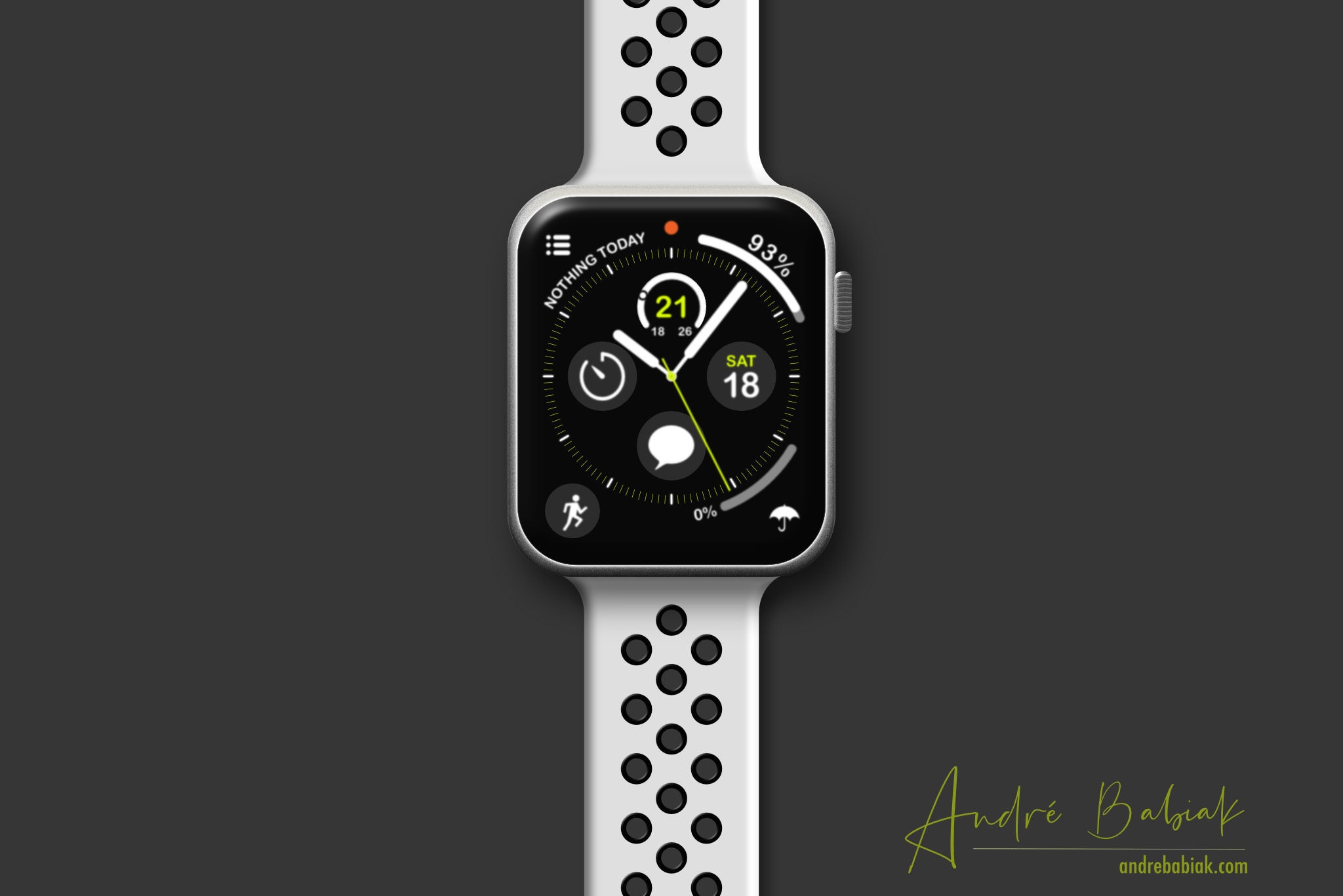 Product design mockup Apple Watch 4