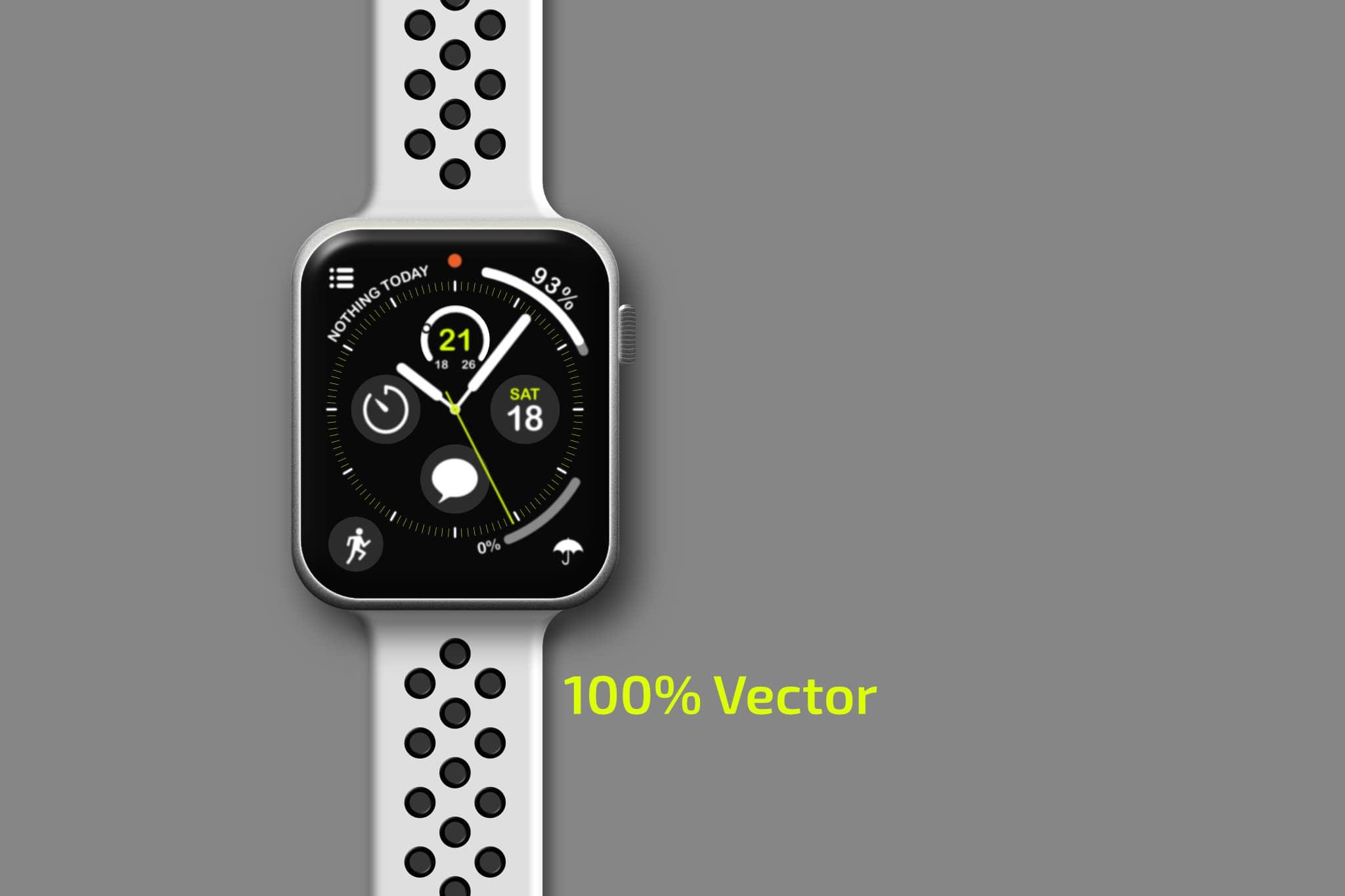 Apple Watch Digital Rendering Vector Graphic